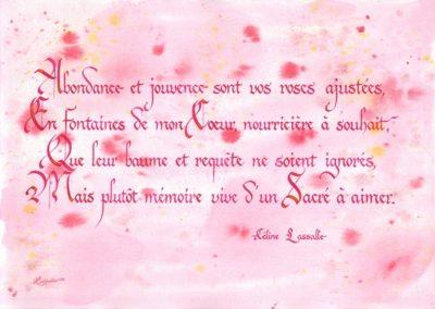 Abondance Poésie de Céline Lassalle