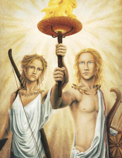 peinture Artémis et Apollon