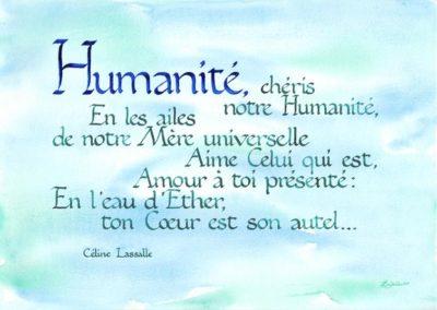 Humanité Poésie de Céline Lassalle