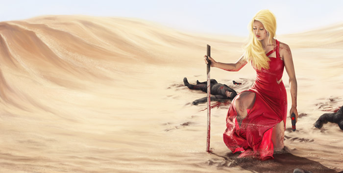 Kaya dans le désert