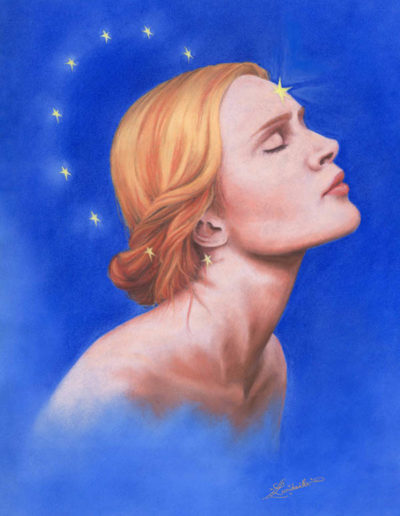 pastel reine des étoiles