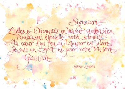 Signature Poésie de Céline Lassalle
